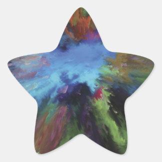 Underwater Abstract Art Star Sticker