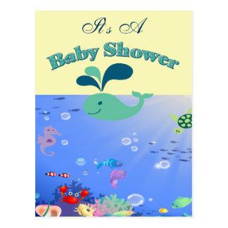 Underwater Adventure Baby Shower Boy Or Girl Postcard