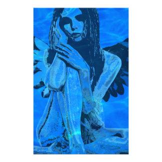 Underwater angel stationery paper