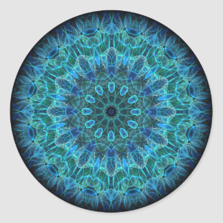 Underwater Beauty kaleidoscope Round Sticker