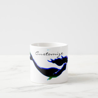 underwater black mermaid Thunder_Cove Espresso Cup