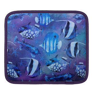 Underwater Blue Fish iPad Sleeve