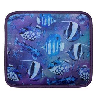 Underwater Blue Fish iPad Sleeves