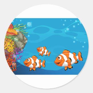 Underwater Classic Round Sticker