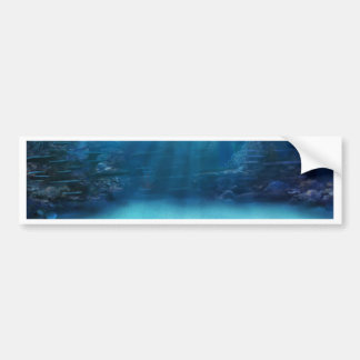 Underwater Coral Reef Towers Bumper Sticker