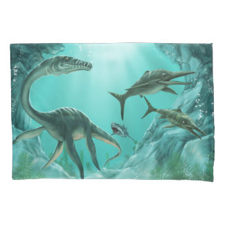 Underwater Dinosaur (2 sides) Pillowcase