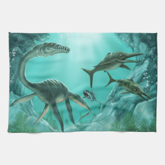 Underwater Dinosaur Kitchen Towel