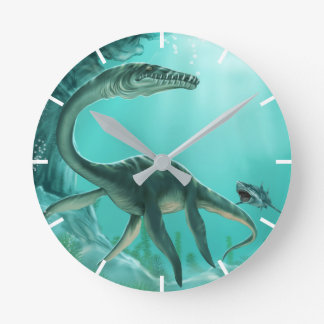 Underwater Dinosaur Wall Clock