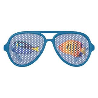 Underwater Diver Tropical Aquarium Fish Tank Aviator Sunglasses