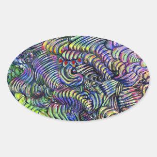 Underwater Flow - abstract sticker