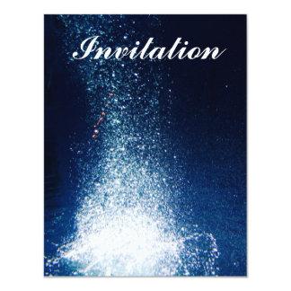 Underwater galaxy stars 11 cm x 14 cm invitation card