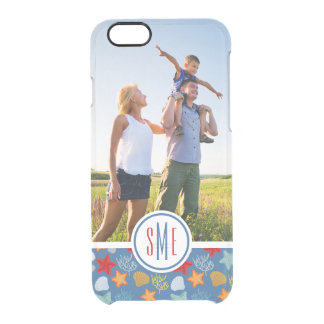 Underwater Life Pattern  Your Photo & Monogram Clear iPhone 6/6S Case