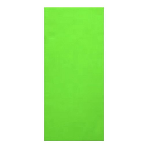 underwater lime green custom rack card
