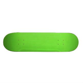 underwater lime green skate board deck