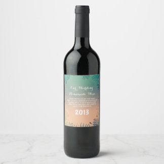 Underwater Ocean Treasures Beach Wedding Wine Label