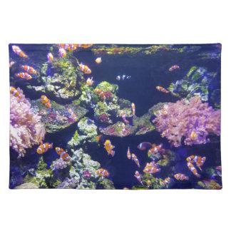Underwater Orange Clown Fish Around Coral Placemat