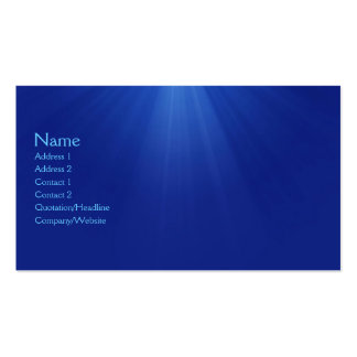 Underwater Pack Of Standard Business Cards