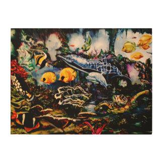 Underwater Playground Wood Wall Art
