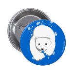 Underwater Polar Bear Pinback Buttons