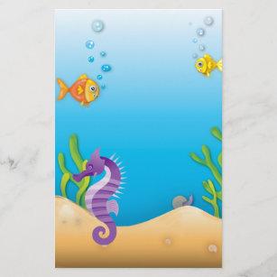 Underwater Purple Seahorse