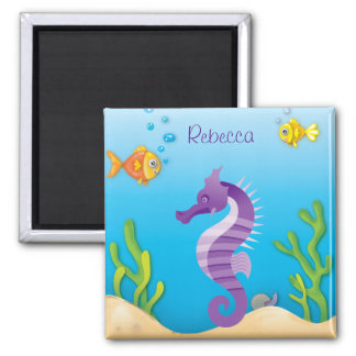 Underwater Purple Seahorse Refrigerator Magnets