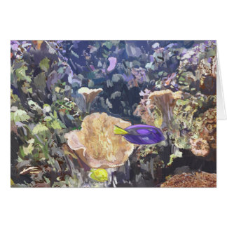 Underwater Scene. Card