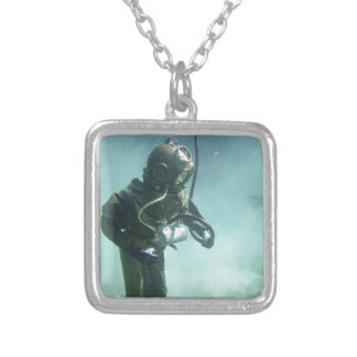 underwater silver plated necklace