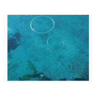 Underwater Smoke Rings Postcard