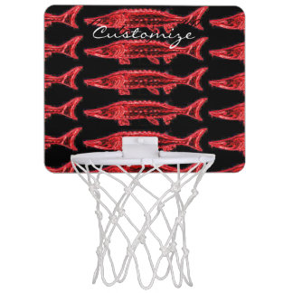 underwater swimming sturgeons mini basketball hoop