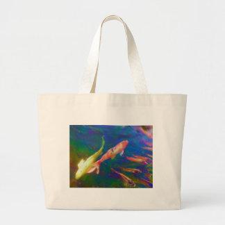 Underwater Tropical Fish Art Large Tote Bag
