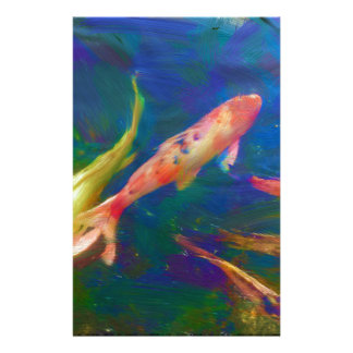Underwater Tropical Fish Art Stationery Paper