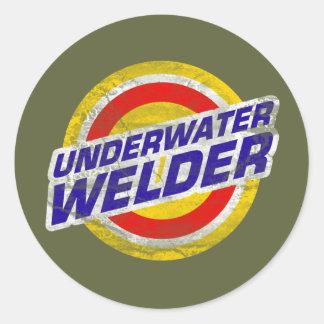 Underwater Welder Classic Round Sticker