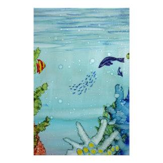 Underwater World #1 Customized Stationery