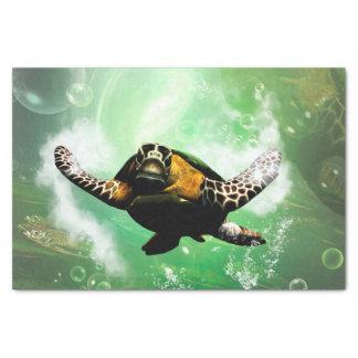 Underwater world with seaturtle tissue paper