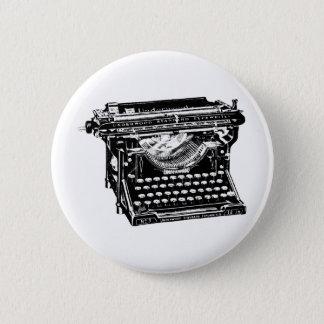 Underwood Typewriter Writer 6 Cm Round Badge