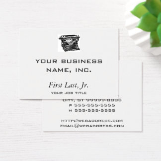 Underwood Typewriter Writer Business Card