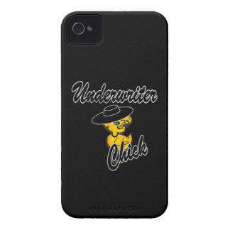 Underwriter Chick #4 iPhone 4 Cover