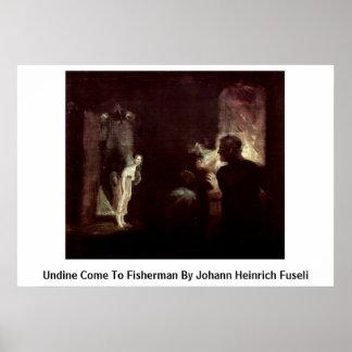 Undine Come To Fisherman By Johann Heinrich Fuseli Print