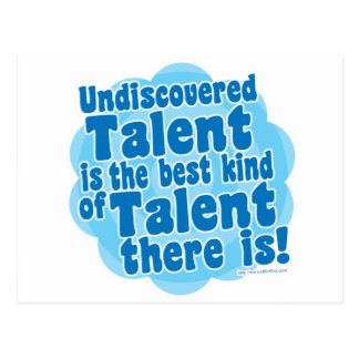 Undiscovered Talent Postcard