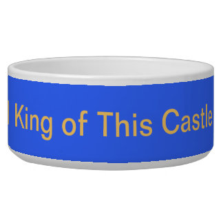 Undisputed King of the Castle Dog Food Bowl