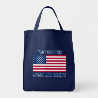 Undisputed World War Champions with American Flag Bag