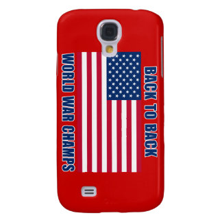 Undisputed World War Champions with American Flag Galaxy S4 Cases