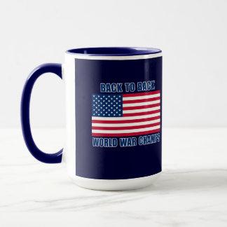 Undisputed World War Champions with American Flag Mug