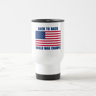 Undisputed World War Champions with American Flag Stainless Steel Travel Mug