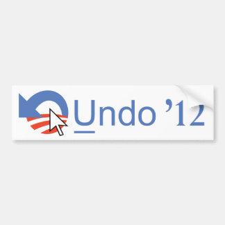 Undo Obama '12 Bumper Sticker