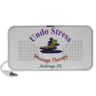 Undo Stress Alaska Logo Laptop Speakers