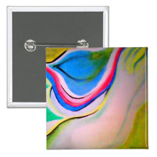 Undulation Abstract Acrylic Painting 15 Cm Square Badge