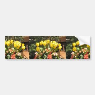 Une Fleur Bouquet pour toi: Flowers Love Romance Bumper Sticker