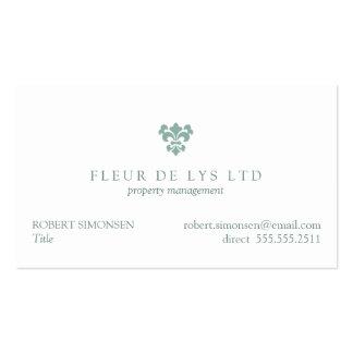Une Fleur de Lis Business Card Template