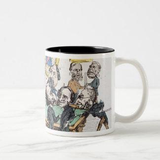 Une Partie de Billard au Cercle Imperial' Two-Tone Coffee Mug